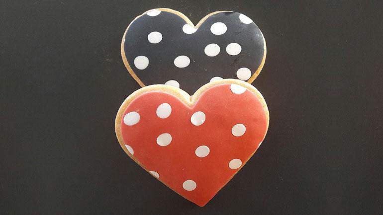 2. Μπισκότα βουτύρου Αγίου Βαλεντίνου